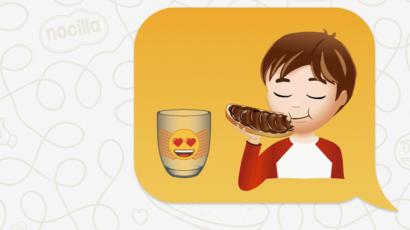 Anuncio vasos emojis Nocilla Fake Studio