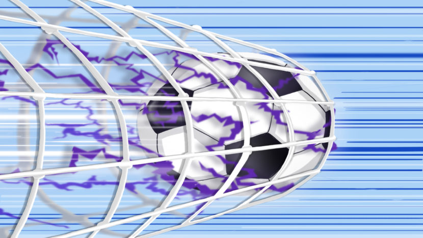 ilustracion color manga pelota